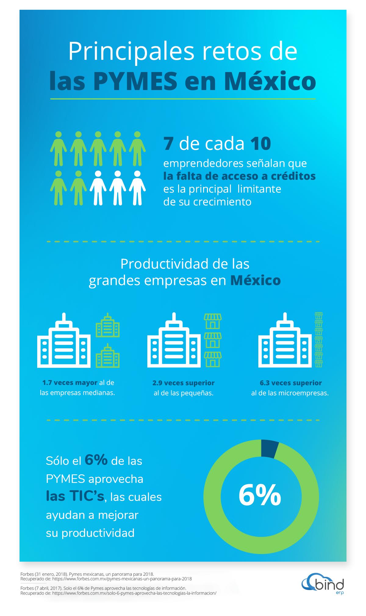 Principales retos de las PYMES en Mexico